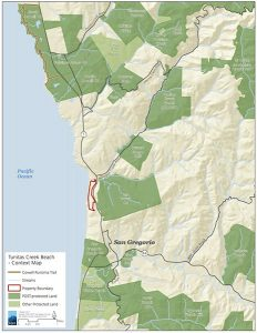 Tunitas Creek Beach Map - POST